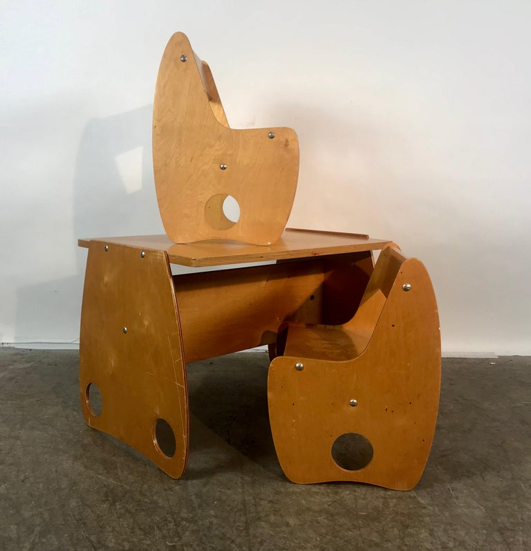 1960s Sculptural Plywood Children's Set by Hans Mitzlaff and Albrecht Lange In Good Condition In Buffalo, NY