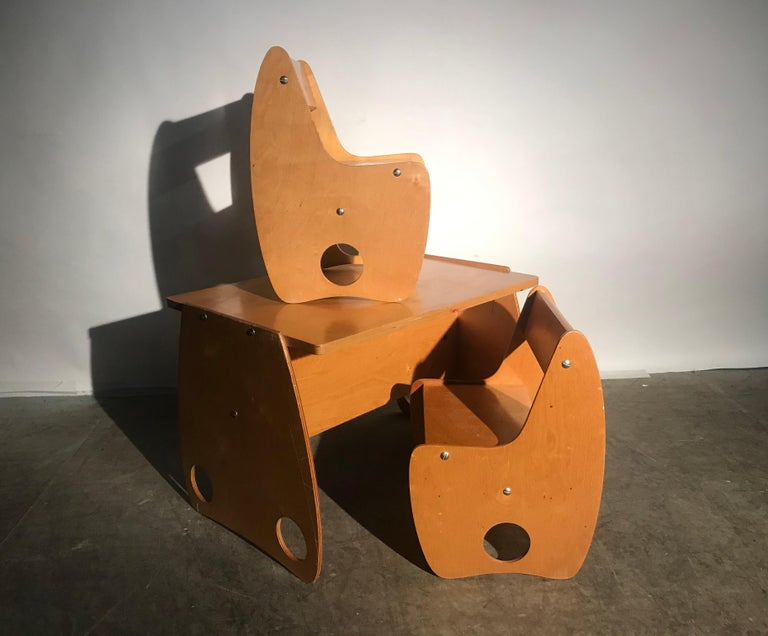 Mid-20th Century 1960s Sculptural Plywood Children's Set by Hans Mitzlaff and Albrecht Lange