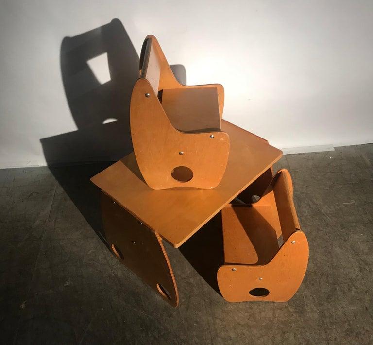 1960s Sculptural Plywood Children's Set by Hans Mitzlaff and Albrecht Lange 1