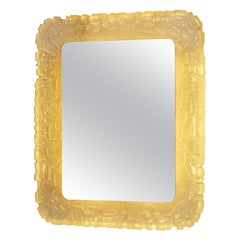 1960s Scultpured Resin Italian Back-Lit Mirror