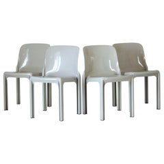 1960s Selene Dining Chairs, Vico Magistretti for Artemide