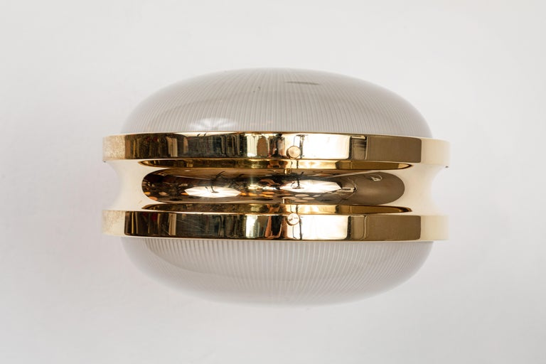 1960s Sergio Mazza Brass 'Gamma' Wall or Ceiling Lights for Artemide For Sale 4