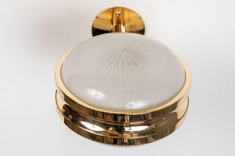 1960s Sergio Mazza Brass 'Gamma' Wall or Ceiling Lights for Artemide For Sale 5