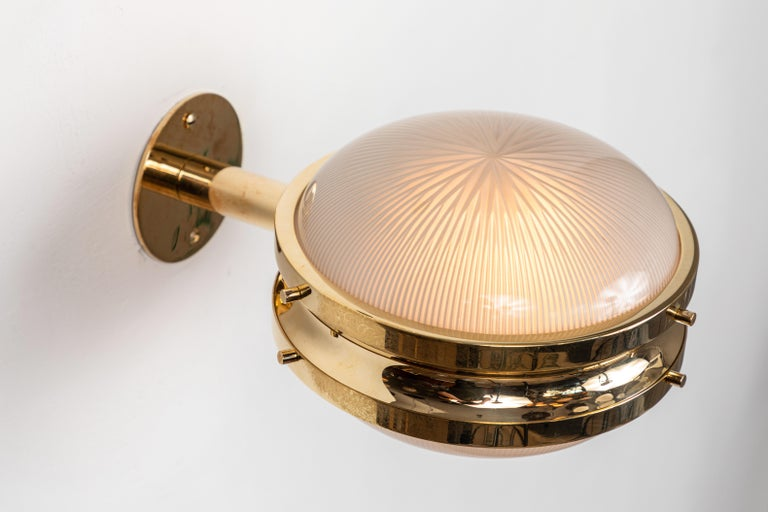 1960s Sergio Mazza Brass 'Gamma' Wall or Ceiling Lights for Artemide For Sale 2