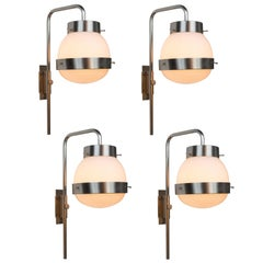 1960s Sergio Mazza 'Delta' Wall Lights for Artemide
