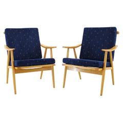 1960s Set of 2 Armchairs, Czechoslovakia