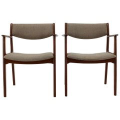 1960s Set of 2 Teak Side Chairs, Denmark