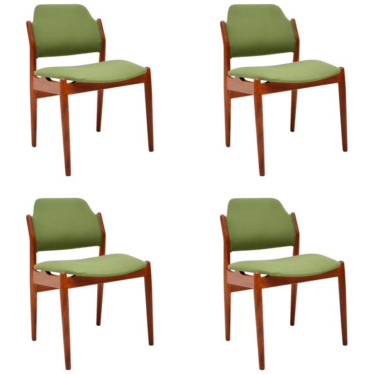 breathtaking danish scandinavian dining room furniture | 1960s Set of 4 Danish Teak Dining Chairs by Arne Vodder ...