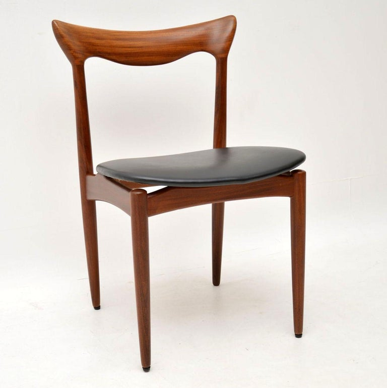 1960s Set of 6 Danish Afromosia Dining Chairs by HW Klein ...