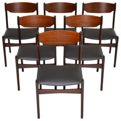1960s Set of 6 Danish Afromosia Dining Chairs