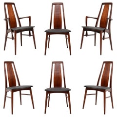 1960's Set of 6 Danish Dining Chairs by Niels Koefoed