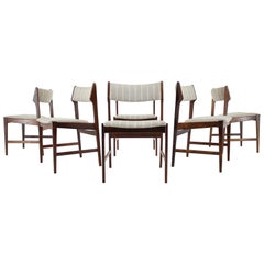 1960s Set of 6 Erich Buch Solid Palisander Dining Chairs, Denmark