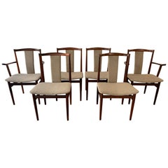 1960s Set of 6 Midcentury Rosewood Henning Sorensen Dining Chairs for Dan-Ex