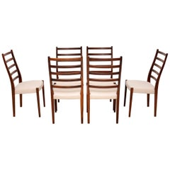 1960s Set of 6 Swedish Dining Chairs by Svegards Markaryd