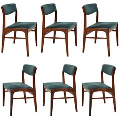 1960s Set of 6 Vintage Danish Dining Chairs