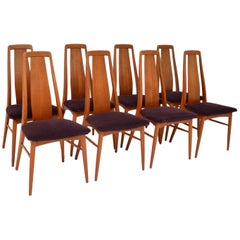 1960s Set of 8 Danish Teak Dining Chairs by Niels Koefoed