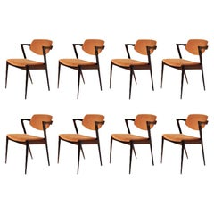 1960s Set of Eight Kai Kristiansen Dining Chairs in Rosewood, Inc. Reupholstery