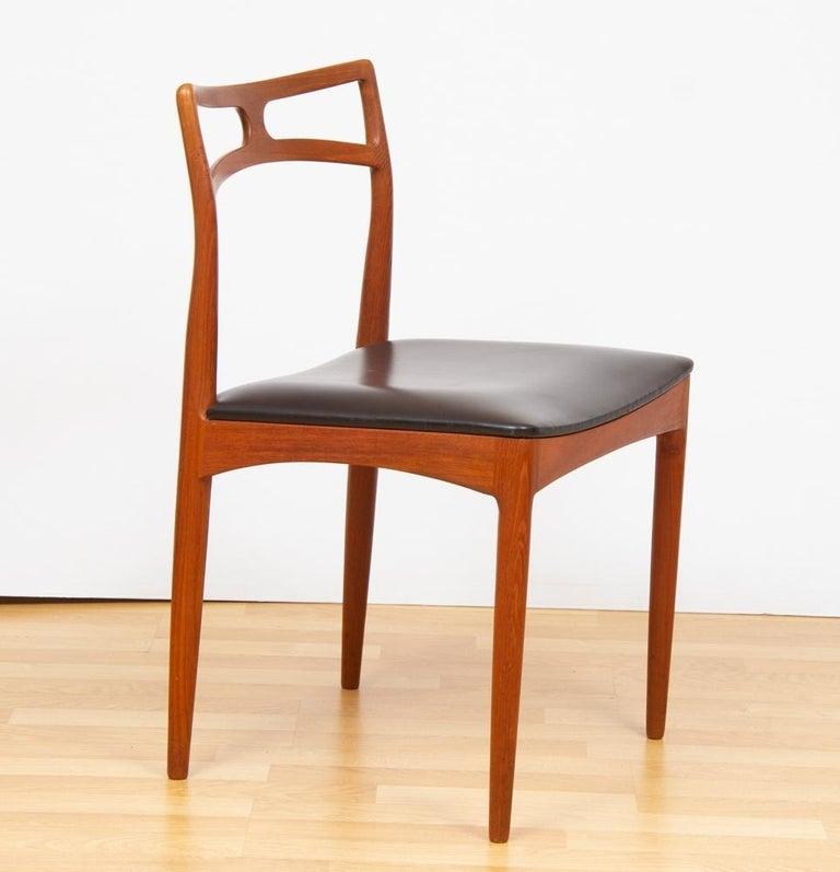 Danish 1960s Set of 8 Teak Johannes Andersen Model 94 Dining Chairs Christian Linneberg For Sale