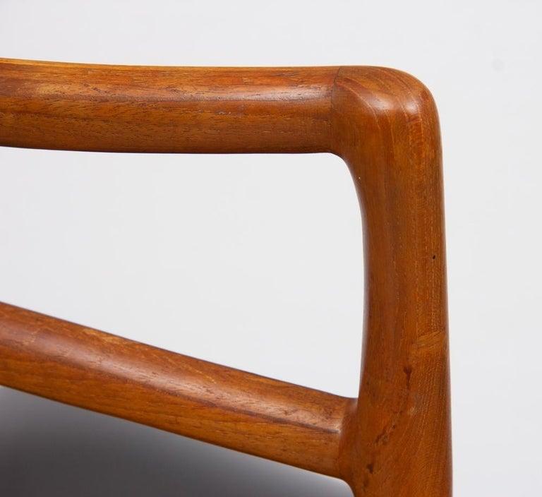 Fabric 1960s Set of 8 Teak Johannes Andersen Model 94 Dining Chairs Christian Linneberg For Sale