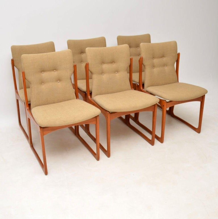 6de5876abfdd0 1960s Set of Danish Vintage Teak Dining Chairs For Sale at 1stdibs
