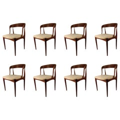 1960s Set of Eight Johannes Anderasen Dining Chairs in Teak Choice of Upholstery