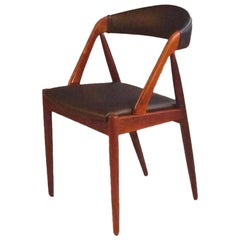 1960s Set of Eight Kai Kristiansen Reupholstered Dining Chairs in Rosewood