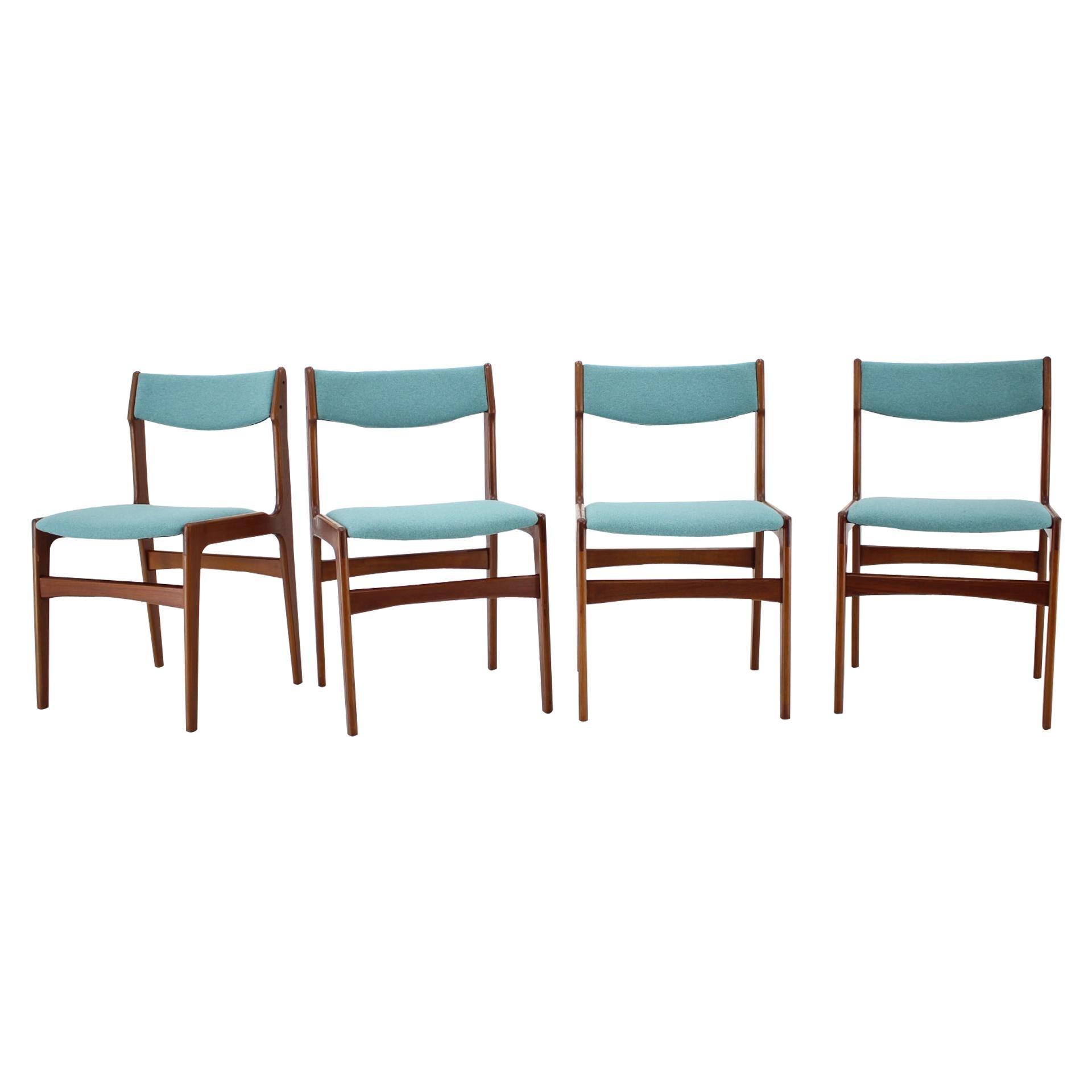 1960s Danish Teak Dining Chairs, Set of 4