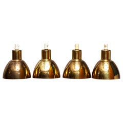 1960s Set of Four Brass Pendants by Hans-Agne Jakobsson for Markaryd, Sweden