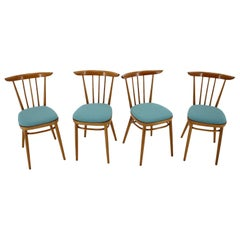 1960s Set of Four Dining Chairs by Tatra, Czechoslovakia