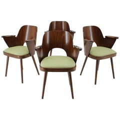 1960s Set of Four Oswald Haerdtl Dining Chairs, Czechoslovakia