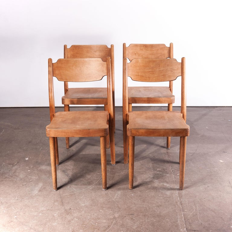 1960s Set of Four Peter Hvidt Portex Dining or Side Chairs 'Style of' In Good Condition For Sale In Hook, Hampshire