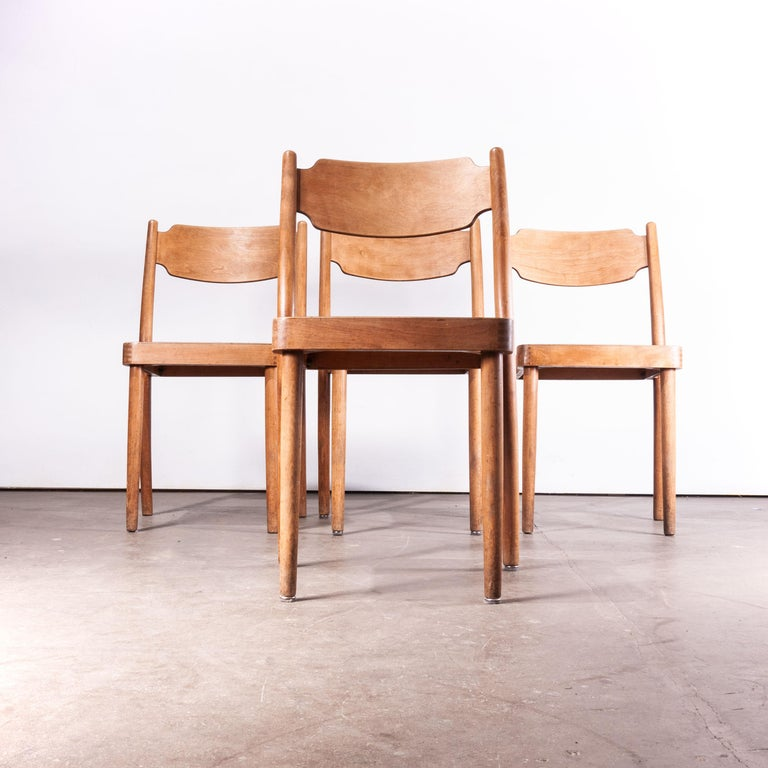 1960s Set of Four Peter Hvidt Portex Dining or Side Chairs 'Style of' For Sale 1