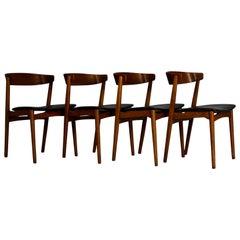 1960s Set of Four Teak Dining Chairs, Denmark