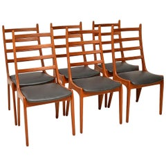 1960s Set of Six Danish Teak Dining Chairs by Kai Kristiansen