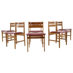 1960s Set of Six Dining Chairs, Denmark