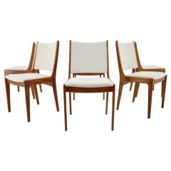 1960s Set of Six Johannes Andersen Teak Dining Chairs by Uldum Mobelfabric, Denm