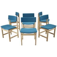 1960s Set of Six Oak Dining Chairs, Denmark