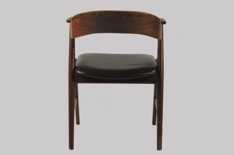 Danish Six Refinished Rosewood Dining Chairs, Reupholstery For Sale