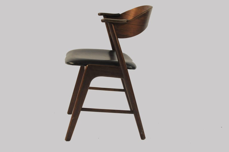 Mid-20th Century Six Refinished Rosewood Dining Chairs, Reupholstery For Sale