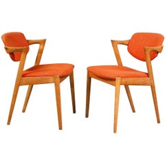 1960s Set of Ten Kai Kristiansen Ebonized Dining Chairs in Oak