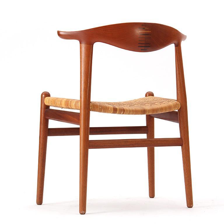 1960s Set of Ten Teak Cow Horn Chairs by Hans J. Wegner for Johannes Hansen For Sale 1