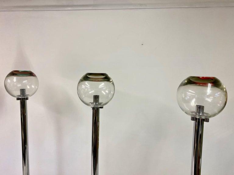 1960s Set of Three Floor Lamps by Ludovico Diaz de Santillana For Sale 6
