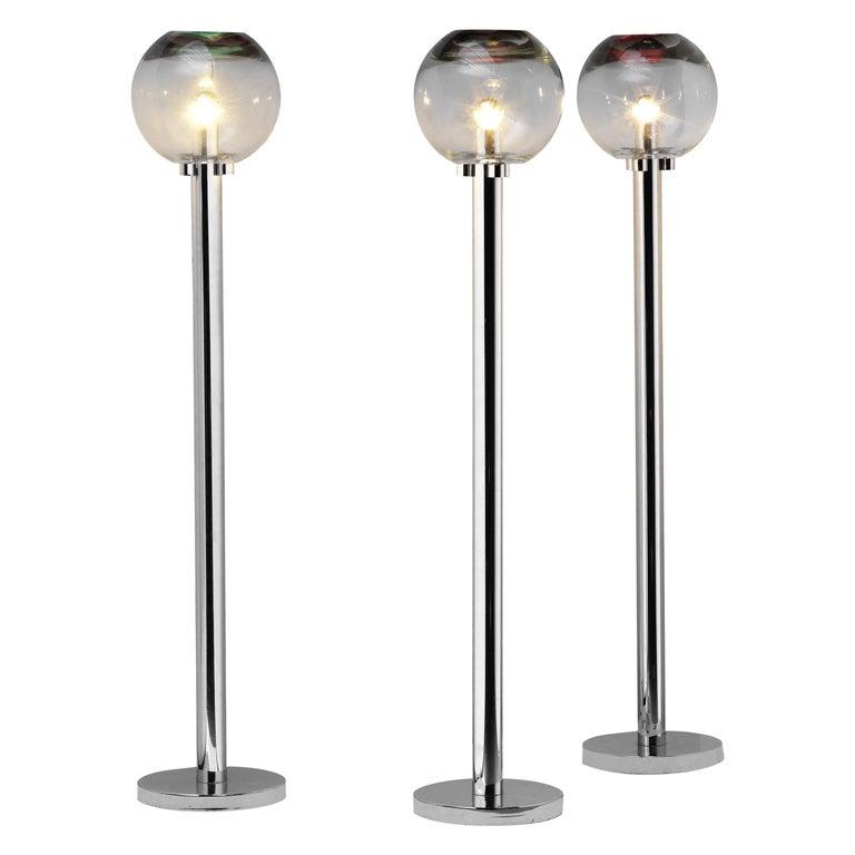 1960s Set of Three Floor Lamps by Ludovico Diaz de Santillana For Sale