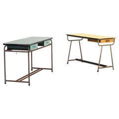 1960s Set of Two Industrial Children's Writing Desk