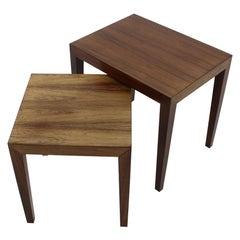 1960s Severin Hansen Pair of Palisander Side Tables, Denmark