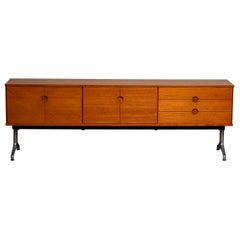 1960s Sideboard / Credenzas in Teak on a Aluminum Stand by Pertti Salmi, Norway