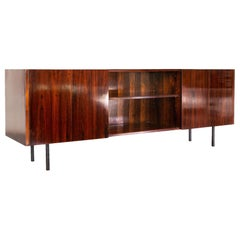 1960s Sideboard in Rosewood and Iron, Designed by Carlo Fongaro, Brazil
