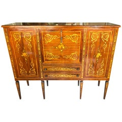 1960s Sideboard with Maggiolini Type Inlays Walnut