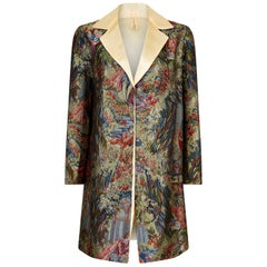 1960s Silk Brocade Jacket With Ivory Silk Collar