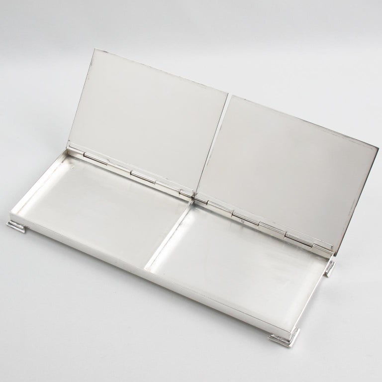 1960s Silver Plate Extra Long Box In Good Condition For Sale In Atlanta, GA